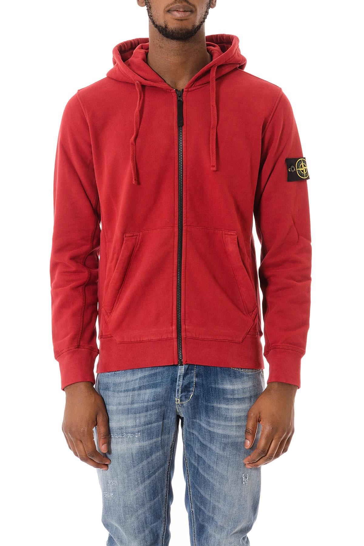 pretty nice 53f51 c3cb2 STONE ISLAND Red sweatshirt for man F/W 15-16