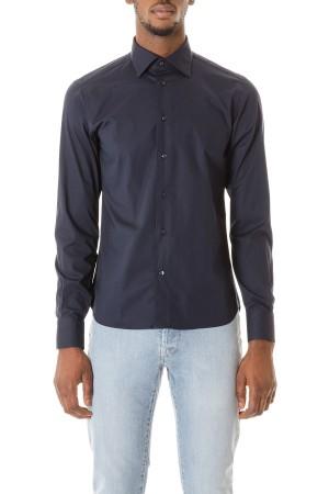 buy popular 9b880 27b8c RIONE FONTANA Camicia blu scuro per uomo autunno inverno 15-16