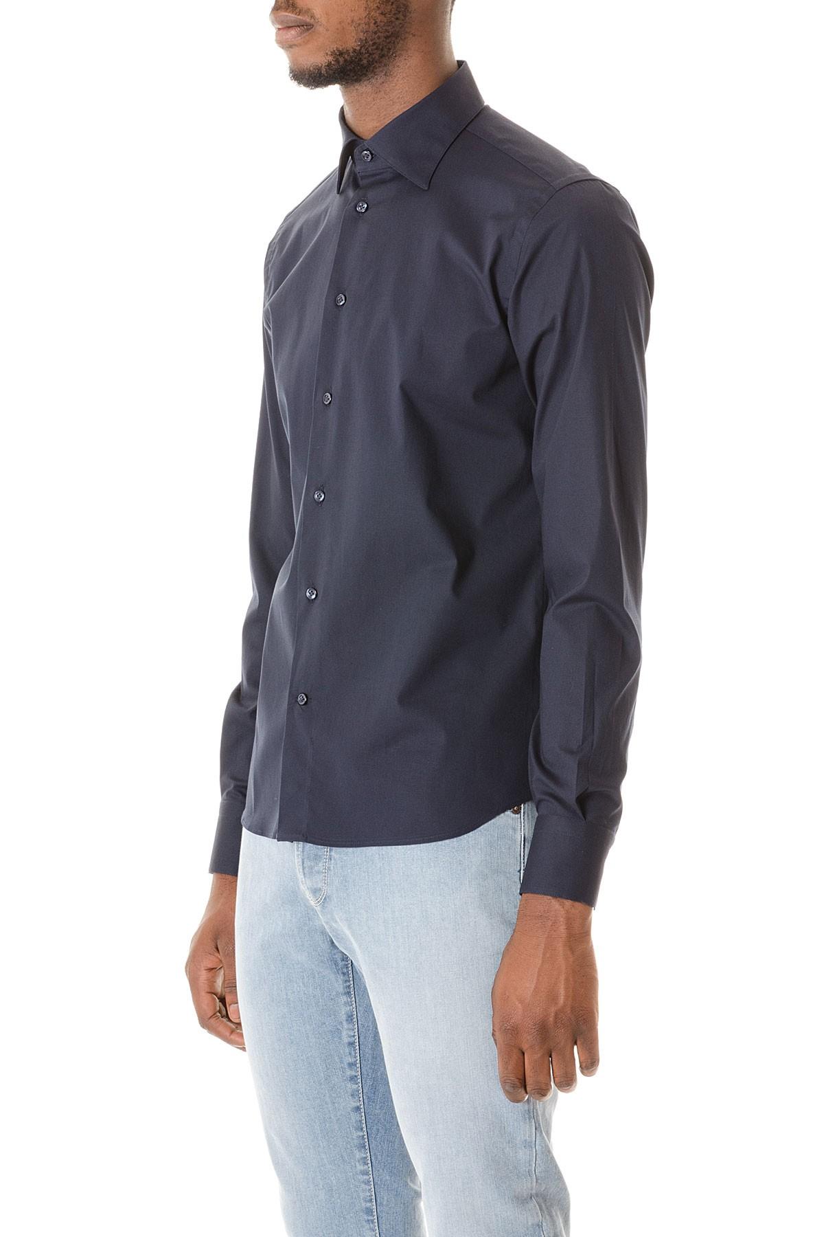 finest selection fda95 59a38 RIONE FONTANA Camicia blu scuro per uomo autunno inverno 15 ...