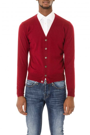 Cardigan rosso da uomo autunno-inverno 2015-2016 RIONE FONTANA