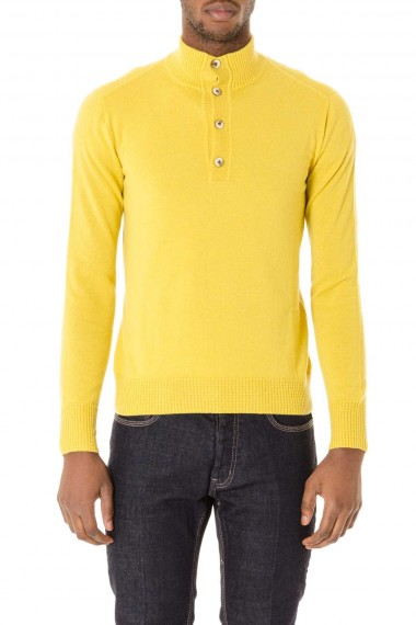 autumn winter 2015-2016 yellow cardigan for man H953