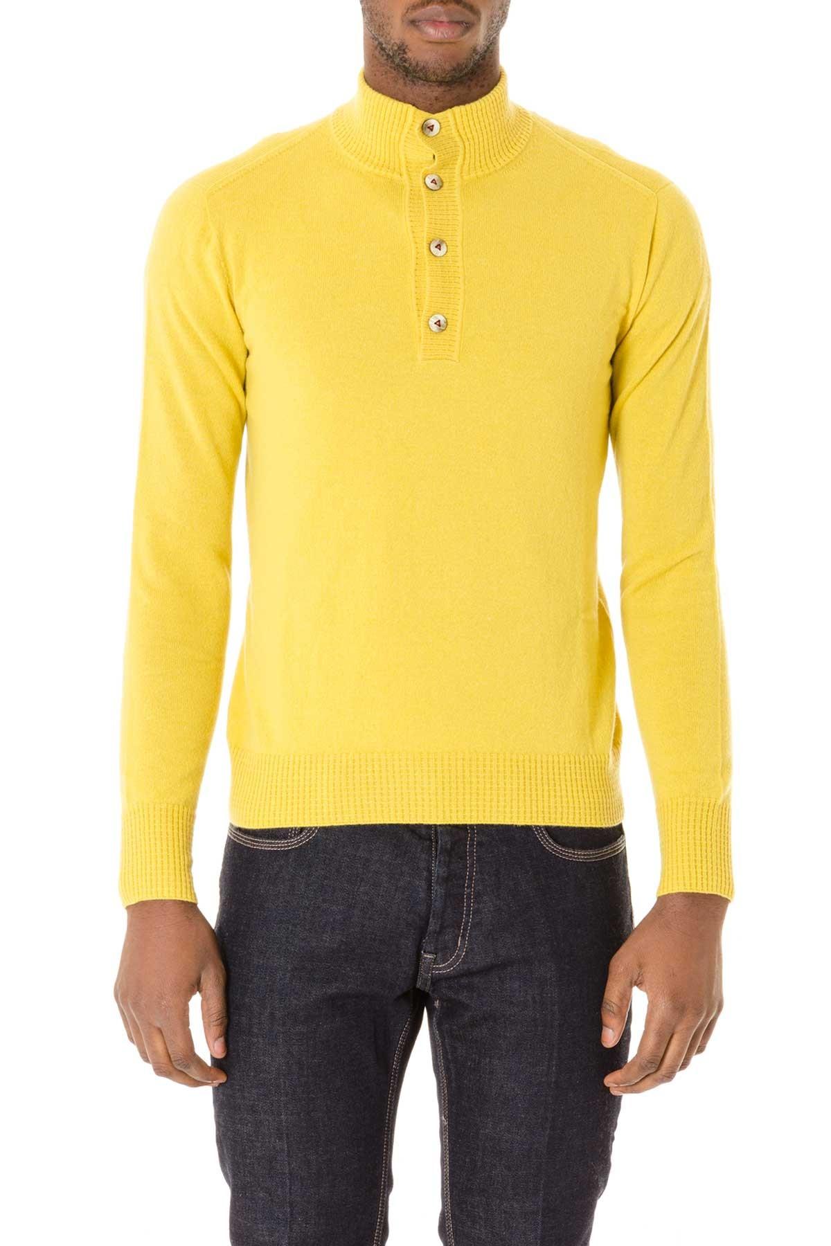 check out 801d7 68ebb Autunno inverno cardigan giallo da uomo H953