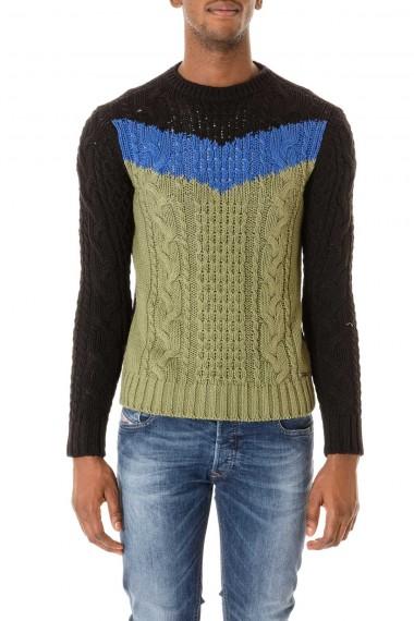 Maglione verde, nero e blu DIESEL per uomo autunno inverno 2015-2016