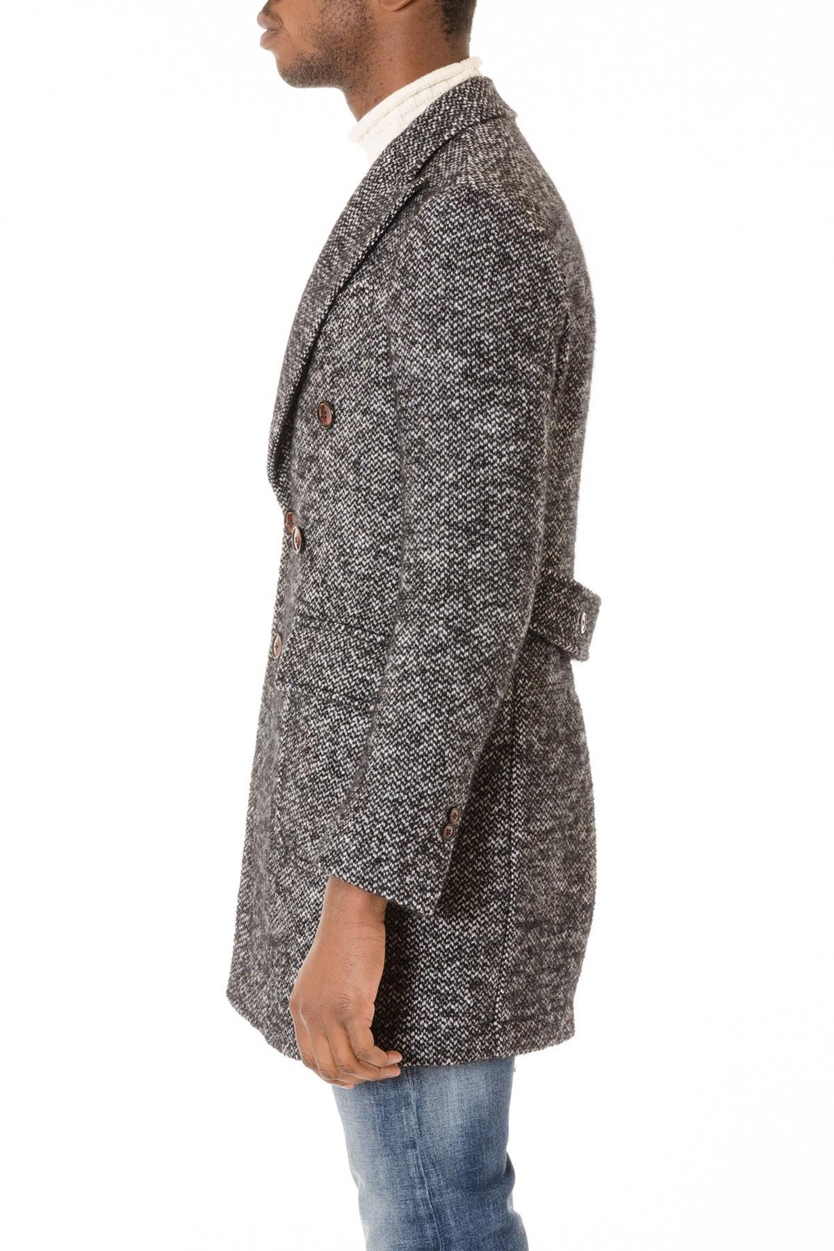 new styles 2db08 9ab1a DOMENICO TAGLIENTE Cappotto bianco grigio e nero da uomo A/I ...