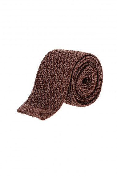 Brown tie for man fall winter 15-16 RIONE FONTANA