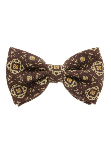FRANCO BASSI brown bow tie for man Fall Winter 2015-16