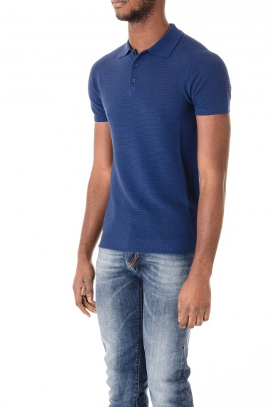 ec34938ab ... Cotton blue polo-shirt for men Rione Fontana S/S 16