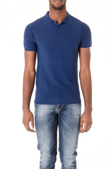 Cotton blue polo-shirt for men Rione Fontana S/S 16
