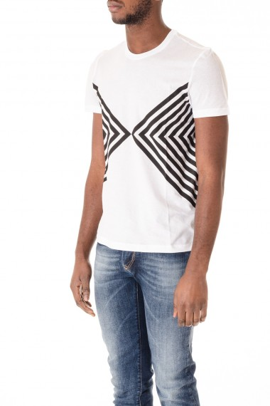 White T-shirt PAOLO PECORA S/S 16