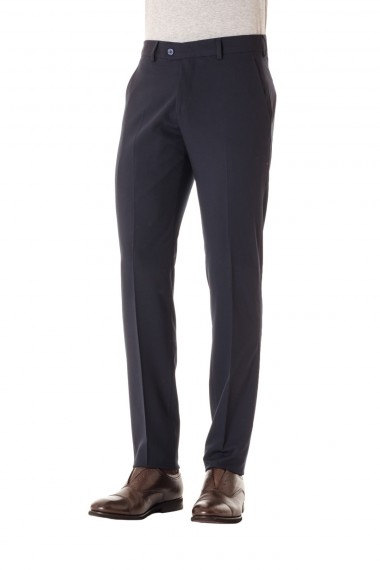 Trousers in dark blue wool S/S 16 RIONE FONTANA for men