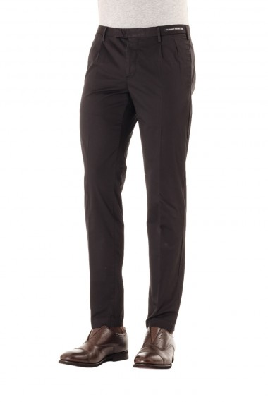 P/E 16 PT01 pantalone in cotone nero