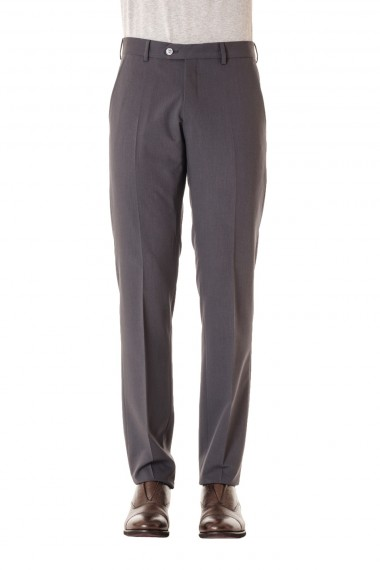 RIONE FONTANA S/S 16 Slim fit gray trousers wool made in Italy