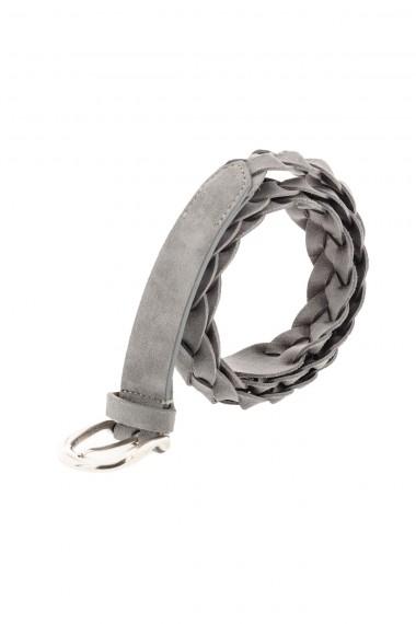 Cintura intrecciata per uomo grigio chiaro P/E 16 RIONE FONTANA