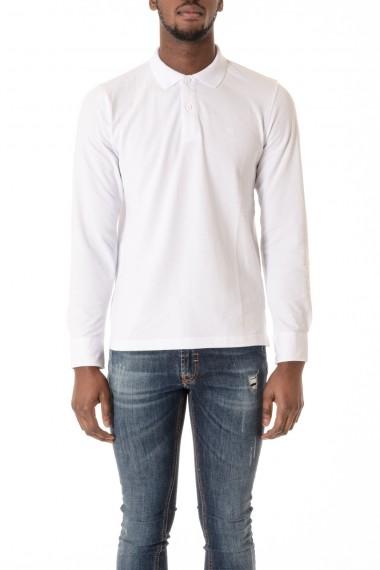 White long sleeves polo-shirt SUN68 S/S 16