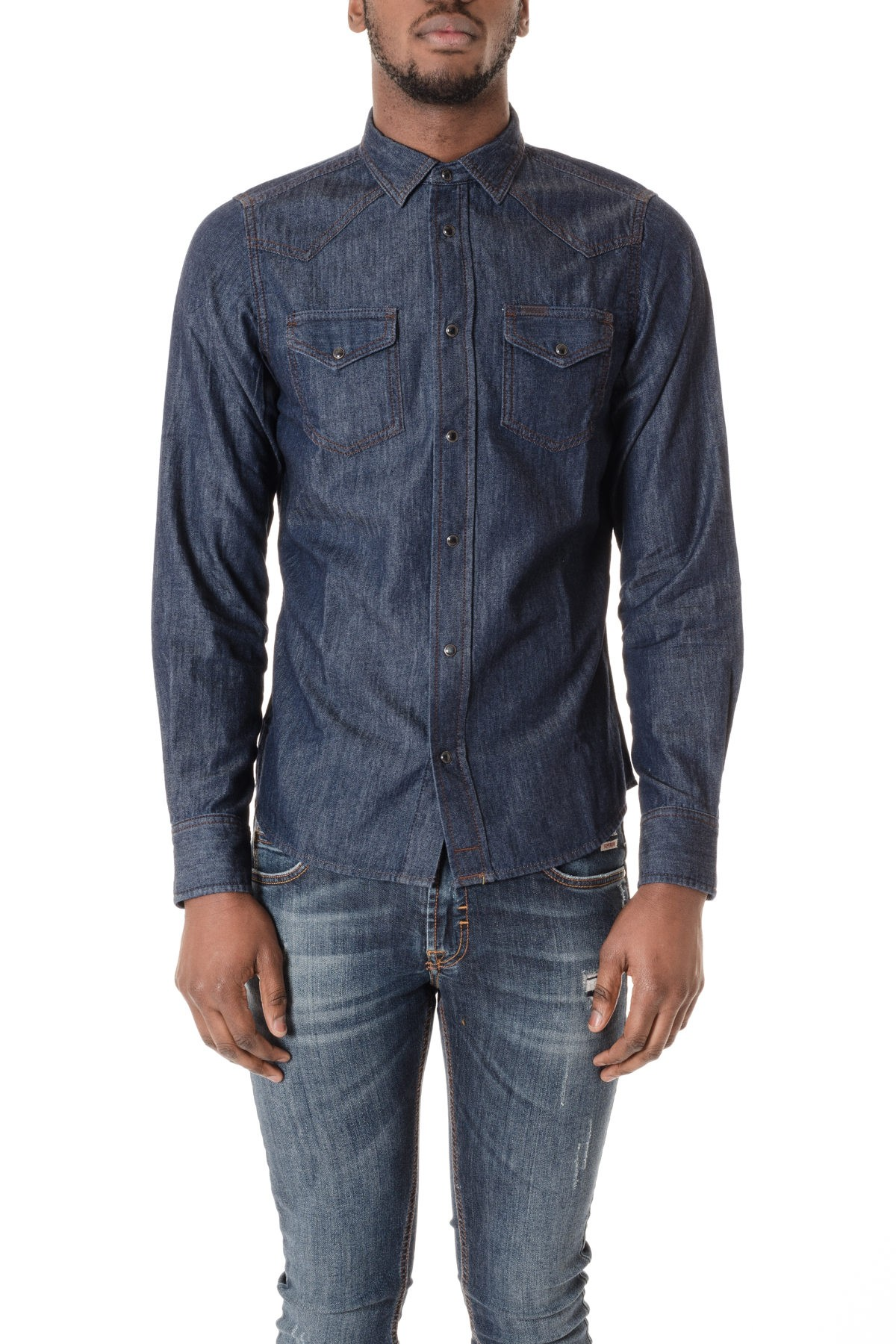 1c88ce862d Dark denim shirt for men DIESEL S S 16 - Rione Fontana