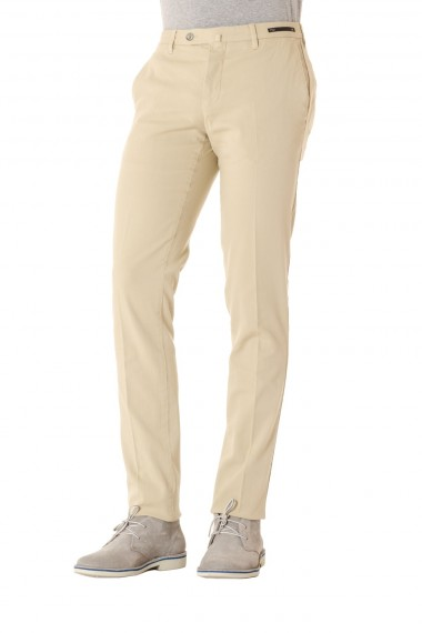 PT01 Pantalone cotone beige Malibù slim fit P/E 16
