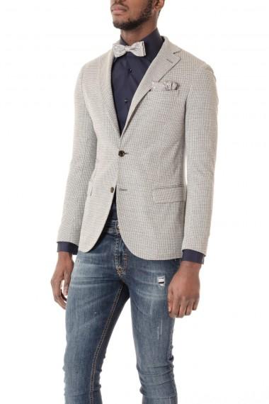 Giacca ELEVENTY per uomo pied de poule grigio e bianco P/E16