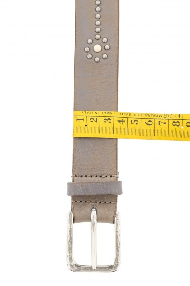 RIONE FONTANA Taupe gray belt for man S/S 16