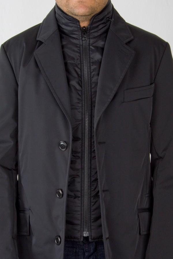 pretty nice 2dd15 94bc3 Black Double Coat in technical wool. Fay. Man. Fall/Winter.