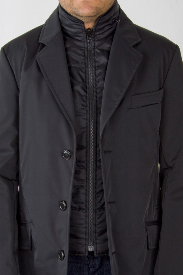 best website 73874 59d10 Double Coat lana tecnica nero. Fay. Uomo. Autunno/Inverno.