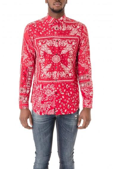 Camicia sfondo rosso e fantasia  per uomo DIESEL P/E 16