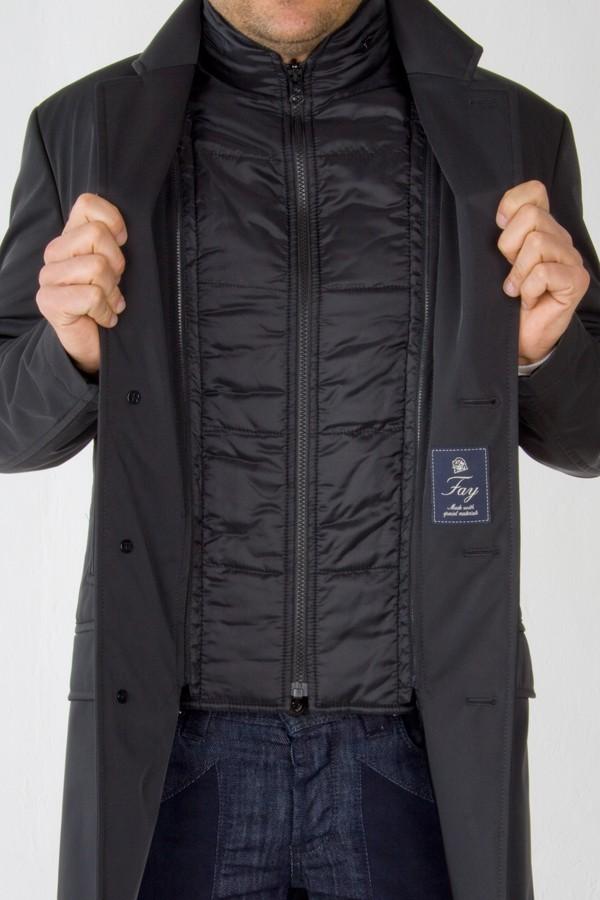 san francisco 06fb3 7e16c Double Coat lana tecnica nero. Fay. Uomo. Autunno/Inverno ...