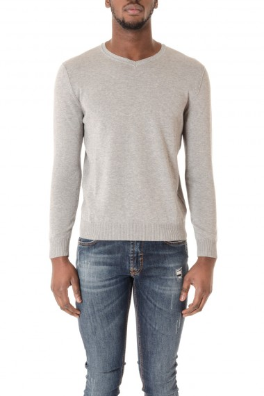 H953 light gray S/S 16 V-neck sweater