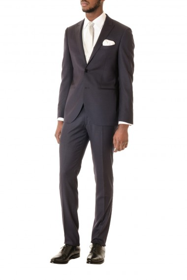 RIONE FONTANA Dark blue suit with vest and tie