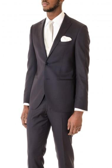 Abito blu scuro RIONE FONTANA con gilet e cravatta