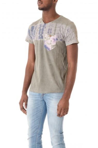 T-shirt per uomo colore grigio con particolare stampa ALOHA POCKET  P/E 16