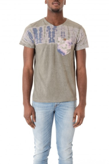 Gray t-shirts for men with print  ALOHA POCKET  S/S 16