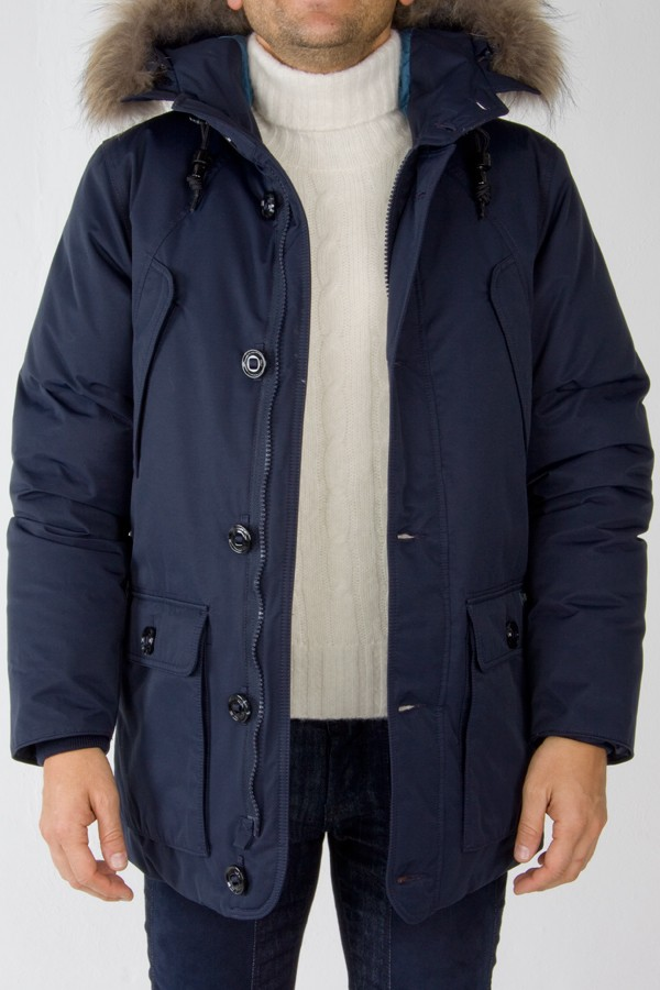 diversamente fdabd a4f79 Museum parka blue padded jacket for men