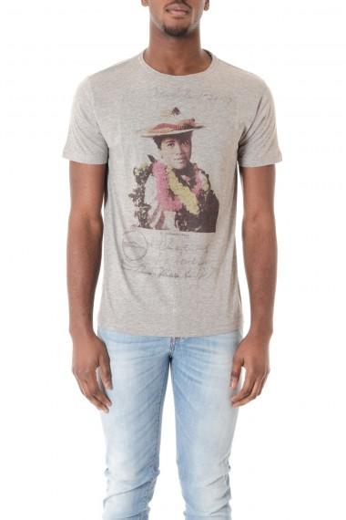 T-shirt  per uomo colore grigio con stampa ALOHA POCKET  P/E16