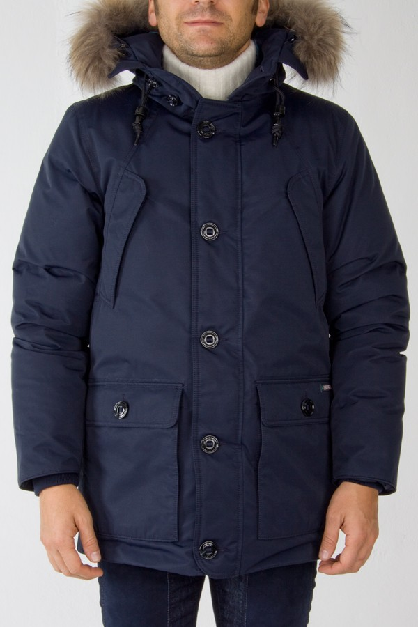 l'ultimo b1939 61f59 Museum parka blue padded jacket for men - Rione Fontana