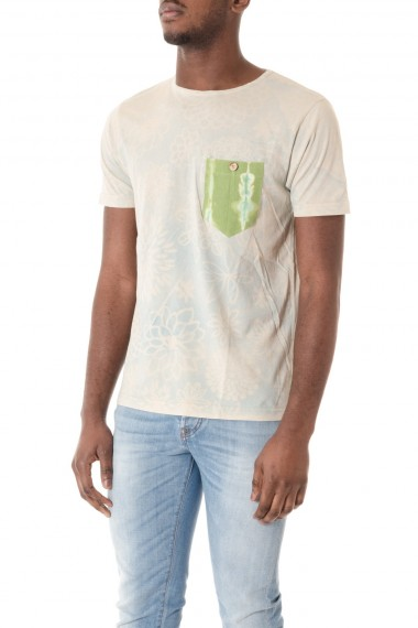 THE ALOHA POCKET STORY Ivory t-shirt with faded print  S/S 16