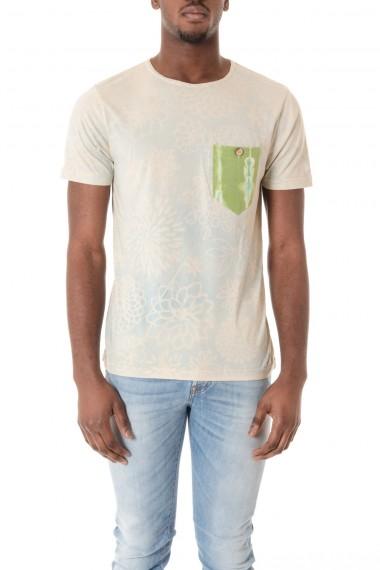 THE ALOHA POCKET STORY T-shirt colore avorio con stampa sfumata  P/E 16