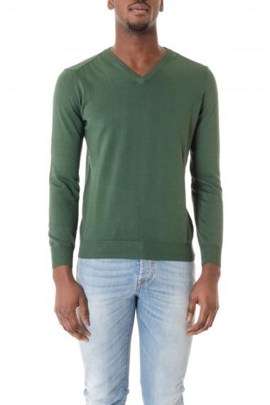 Maglia con scollo a V per uomo RIONE FONTANA P/E 16 colore verde
