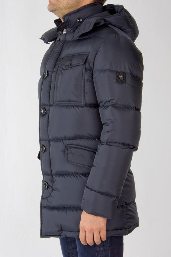 Montecore Parka Blue Padded Jacket For Men Rione Fontana