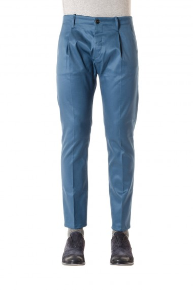 NINE IN THE MORNING Cotton trousers sugar paper color for men S/S 16