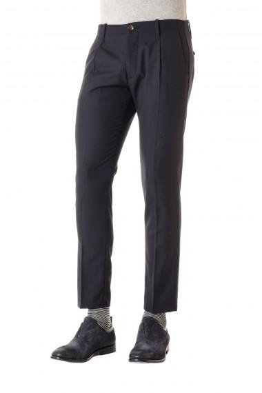 NINE IN THE MORNING pantalone in lana colore blu scuro per uomo P/E 16