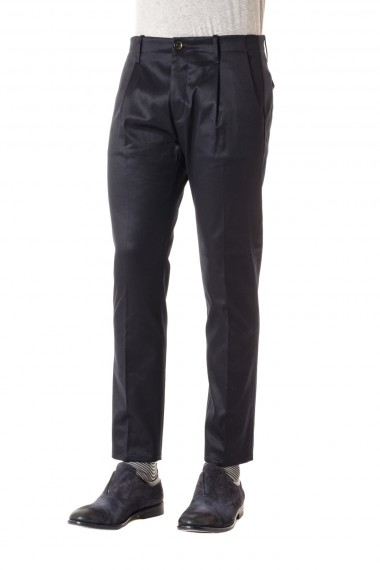 P/E 16 NINE IN THE MORNING pantalone made in Italy in cotone nero per uomo