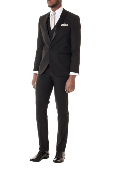 RIONE FONTANA Black dress suit with vest S/S