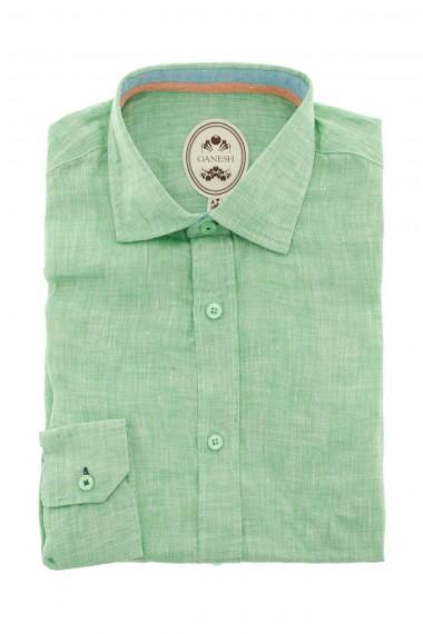 Camicia in lino GANESH colore verde per uomo P/E16