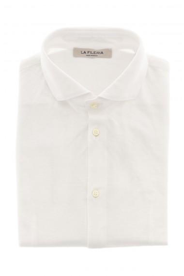 S/S 16 White cotton shirt LA FILIERA  for men