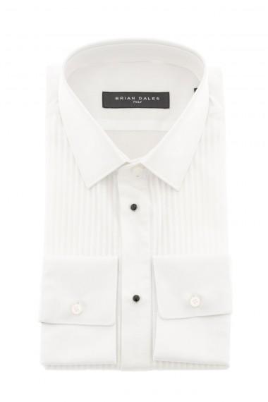Camicia bianca da cerimonia made in Italy BRIAN DALES per uomo