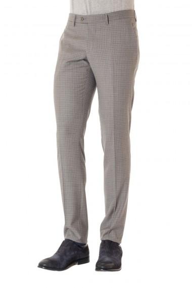 TAGLIATORE P/E 16 Pantalone in lana colore grigio a quadri
