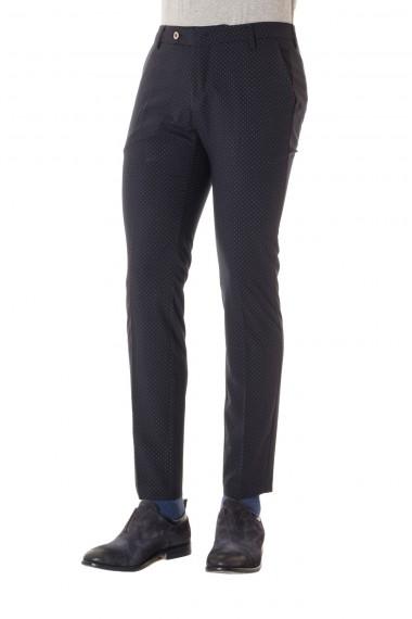 Pantalone MICHAEL COAL colore blu a cerchi grigi P/E 16