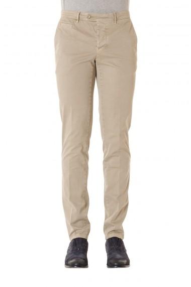 Pantalone uomo in cotone colore sabbia PIATTO P/E 16