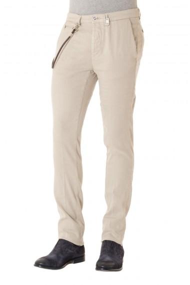 Pantalone in tessuto misto lino e cotone TRAMAROSSA P/E16 beige