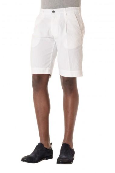 Bermuda colore bianco da uomo P/E 16 in lino e cotone MYTHS